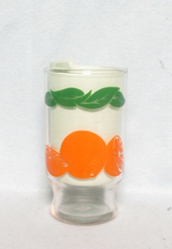 "Oranges Decoration Small Base 4"" Juice Glass - Product Image"