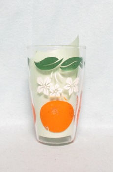 "Oranges Decoration Tapered 3 3/4"" Juice Glass - Product Image"