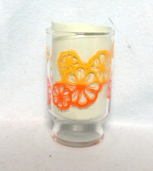 "Oranges Slices Decoration Small Base 3 3/4"" Juice Glass - Product Image"