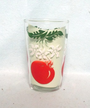 "Tomato's,Blossoms,w Leaves Tapered 3 3/4"" Juice Glass - Product Image"