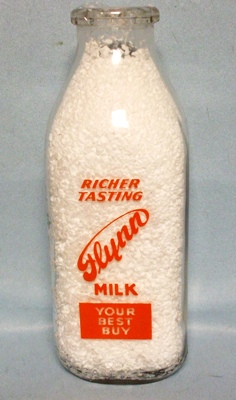 Flynn Milk Your Best Buy 1 Quart Square Milk Bottle - Product Image