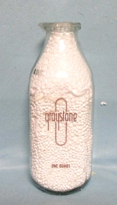 Graystone  1 Quart Square Milk Bottle - Product Image