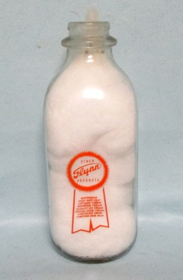 Flynn Milk Gold Ribbon 1 Quart Square Milk Bottle - Product Image