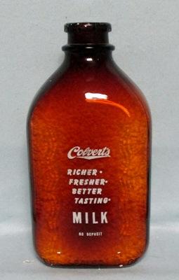 Colvert's Richer,Fresher,Better Tasting  1/2 Gal. Square Milk Bottle - Product Image