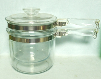 Pyrex Flameware #6283-1 1/2 Qt Double Boiler & Lid - Product Image