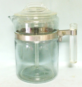 Pyrex Flameware 6 Cup #7756 Percolator Complete - Product Image