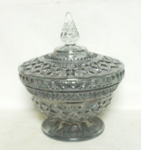 Wexford Rare Pewter Mist Candy Dish & Lid - Product Image