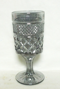 Wexford Rare Pewter Mist Ftd Water Goblet. - Product Image