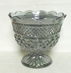 "Wexford Rare Pewter Mist 10"" Footed Fruit Bowl - Product Image"