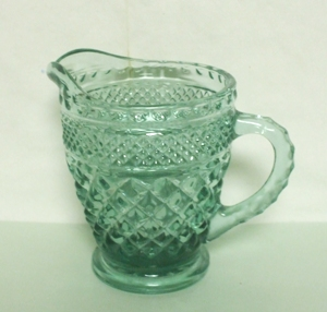 Wexford Small Green Cream Pitcher - Product Image