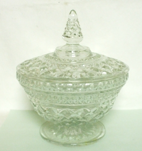 Wexford Footed Candy Dish & Lid - Product Image