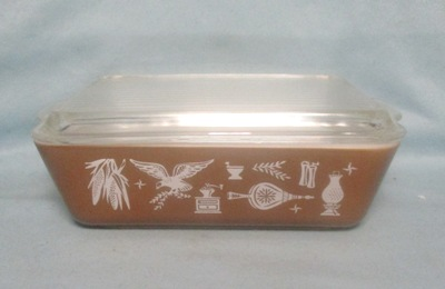 Pyrex Early American Pattern Large Refigerator Dish - Product Image