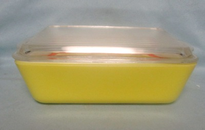 Pyrex Primary Color Yellow Large Refigerator Dish - Product Image