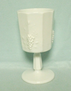"Westmoreland Paneled Grape Milkglass 5 7/8"" Water Goblet - Product Image"
