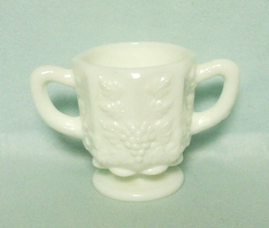 Westmoreland Paneled Grape Milkglass Small Sugar - Product Image