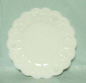 "Westmoreland Paneled Grape Milkglass 8 1/2"" Breakfast Plate - Product Image"
