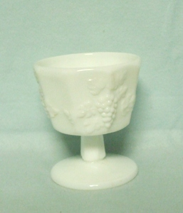 Westmoreland Paneled Grape Milkglass Sherbert - Product Image