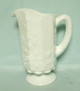 Westmoreland Paneled Grape Milkglass 1 Qt. Ftd Pitcher - Product Image