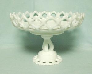 "Westmoreland Milkglass Doric 10"" Ftd. Bowl DO-18 - Product Image"