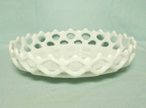 "Westmoreland Milkglass Doric 9 1/4"" Bell Bowl DO-27 - Product Image"