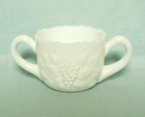 Westmoreland Milkglass Grape Pattern Sugar - Product Image