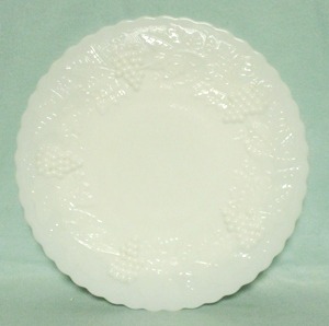 Imperial Glass Milkglass Grape Pattern Dinner Plate - Product Image