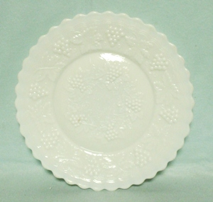 Imperial Glass Milkglass Grape Pattern Salad Plate - Product Image