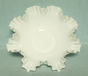 "Fenton Hobnail Milkglass #3938 12"" DC Bowl - Product Image"