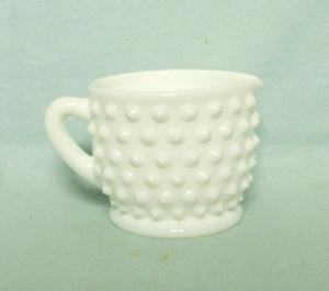 Fenton Hobnail Milkglass #3900 Individual Creamer - Product Image