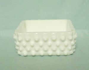 Fenton Hobnail Milkglass #3685 Cigarette Box Bottom only - Product Image