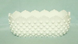 "Fenton Hobnail Milkglass #3912 8 1/2""Oval Planter - Product Image"