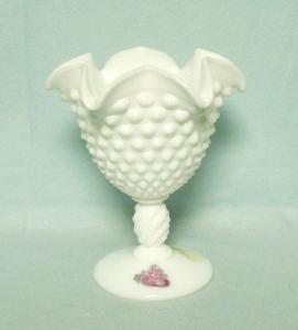 "Fenton Hobnail Milkglass #3725 5 1/2"" Jelly Dish - Product Image"