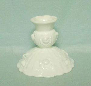Fenton Milkglass Rose Candleholder - Product Image