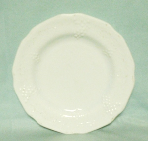"Indiana Glass Milkglass Harvest Grape Pattern 8""Salad Plate - Product Image"