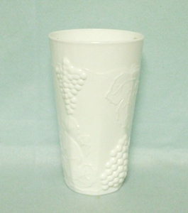 Indiana Glass Milkglass Harvest Grape Pattern Water Tumbler - Product Image