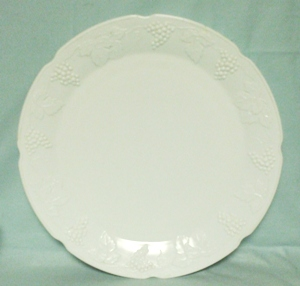 Indiana Glass Milkglass Harvest Grape Pattern Serving Platter - Product Image