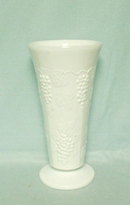 Indiana Glass Milkglass Harvest Grape Pattern Small Jardiniere - Product Image