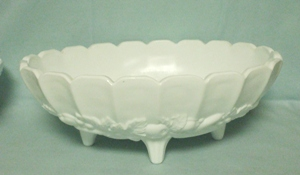 Indiana Glass Milkglass Harvest Grape Pattern Fruit Bowl - Product Image