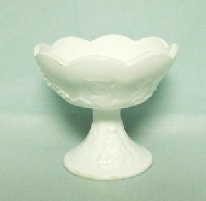 Indiana Glass Milkglass Harvest Grape Pattern Candle Holder - Product Image