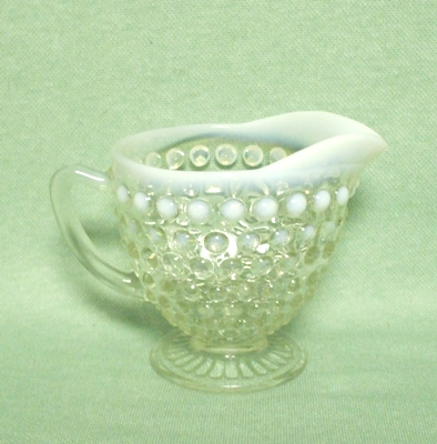 "Moonstone Opalescent Hobnail Footed 5 1/2"" Bud Vase - Product Image"