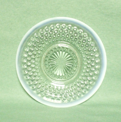 "Moonstone Opalescent Hobnail 6 1/4"" Sherbert Plate - Product Image"