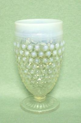 Moonstone Opalescent Hobnail 10 oz. Goblet - Product Image