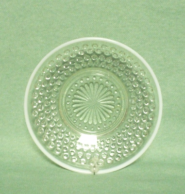 "Moonstone Opalescent Hobnail 5 1/2"" Berry Bowl - Product Image"