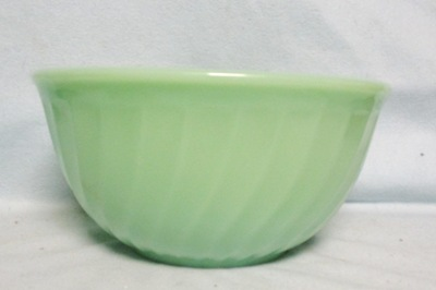 "Fireking Jadite Swirl 8"" Mixing Bowl - Product Image"