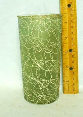 50s Dark Green Rubberized Spagetti String Tumbler - Product Image