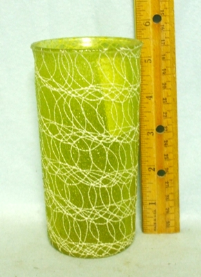 50s Light Green Rubberized Spagetti StringTumbler - Product Image
