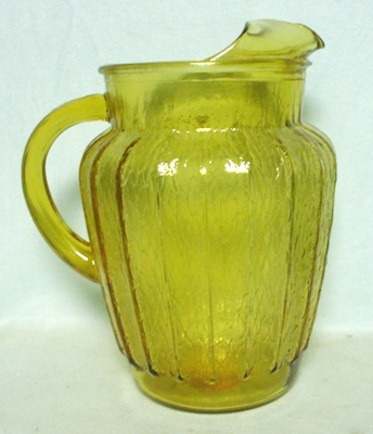A.H. Amber w Textured Panels Pitcher w Ice Lip - Product Image