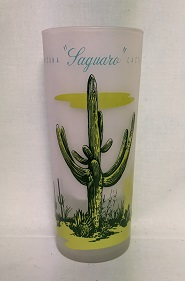 Blakley Oil Frosted Ice Tea Glass w Laguaro Cactus - Product Image