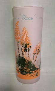 Blakley Oil Frosted Ice Tea Glass w Yucca Cactus - Product Image