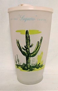 Blakley Oil Rare Cocktail/Juice Pitcher w Laguaro Cactus and Lid - Product Image